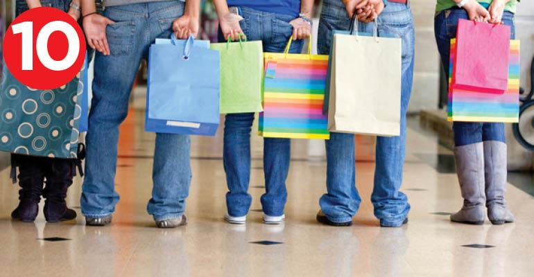 teens and shopping bags