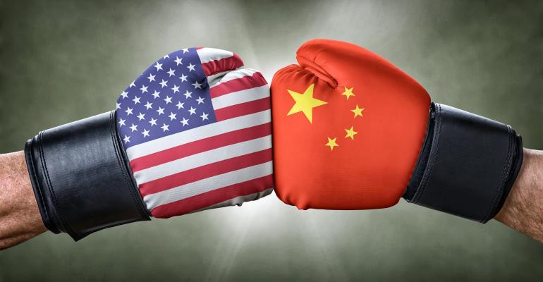 mage result for trade war image