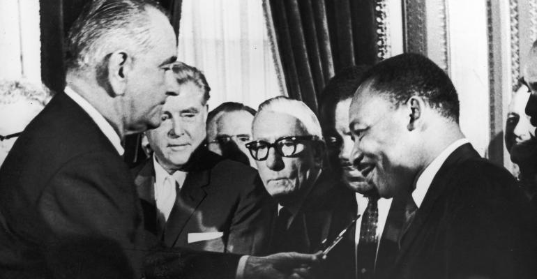 civil rights act_LBJ-MLK