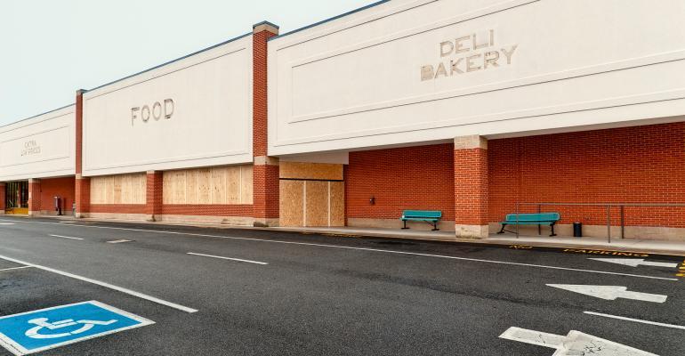 closed supermarket