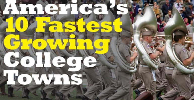 America's 10 Fastest Growing College Towns
