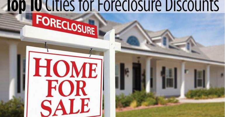 Top 10 Cities for Foreclosure Discounts on Single-Family Homes