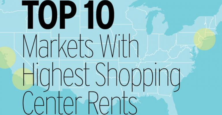 Top 10 Markets With Highest Shopping Center Rents