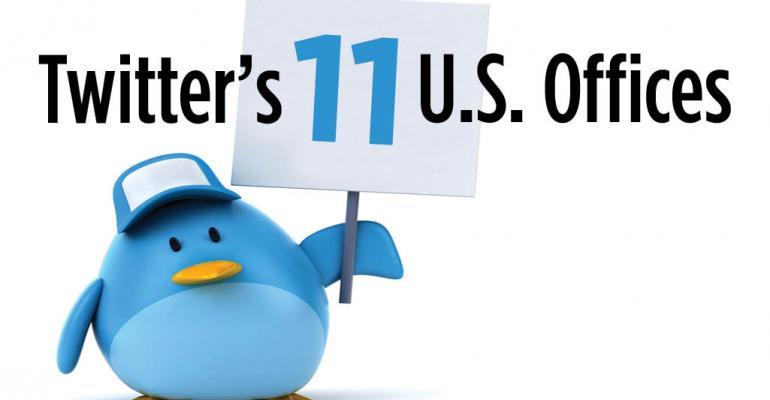 Twitter's 11 U.S. Offices