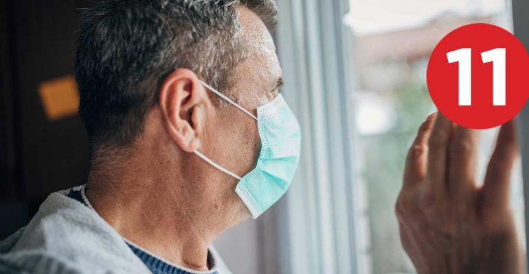 elderly man facemask