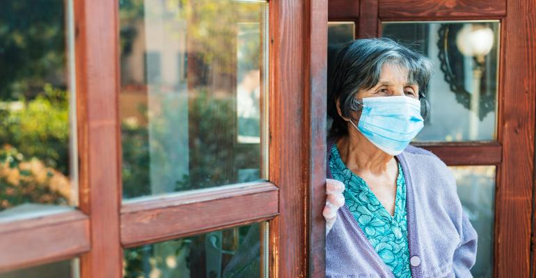 elderly woman facemask