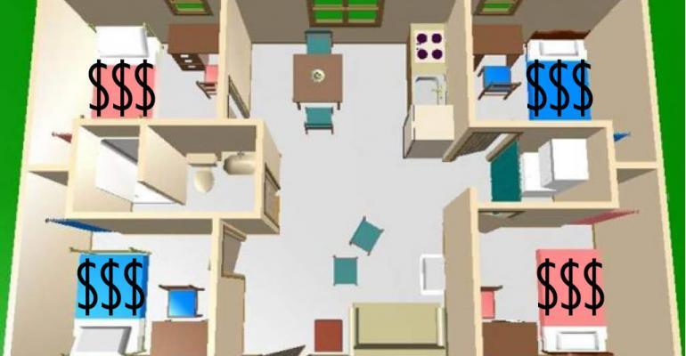 Student housing aerial rendering