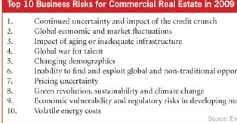 E&Y Ranks Top 10 Business Risks for Commercial Real Estate