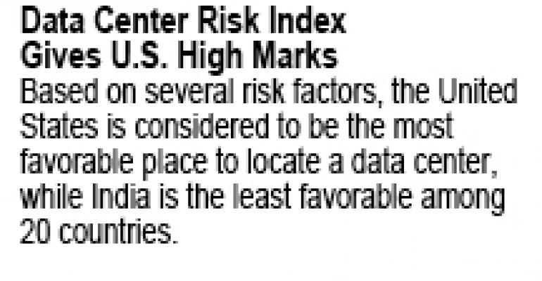 U.S. Ranks As Top Choice for Companies Seeking Low-Risk Data Center Locations