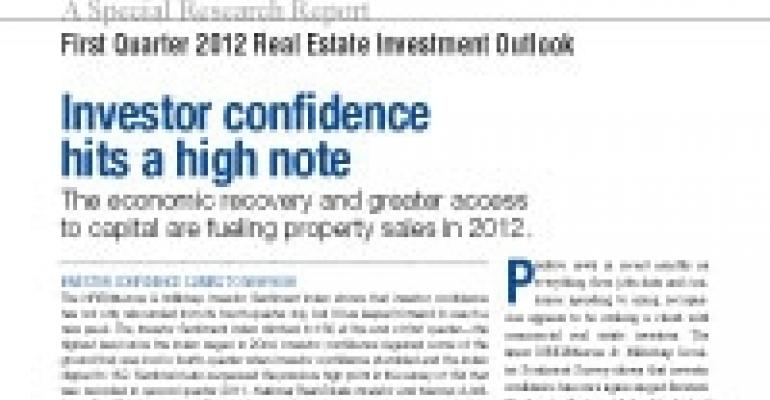 First Quarter 2012 Real Estate Investment Outlook