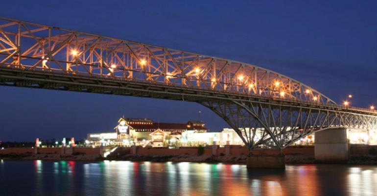 Bossier City LA  Louisiana Boardwalk and Texas Street Bridge