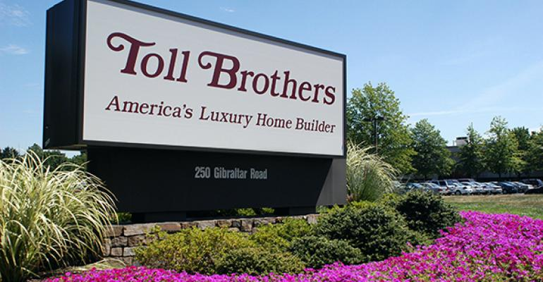 Toll Brothers sign