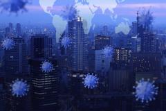 coronavirus cityscape