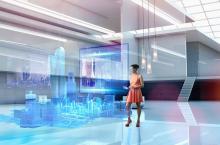 businessperson digital city