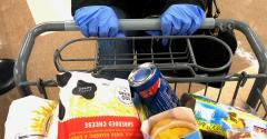 Many customers wear gloves while shopping