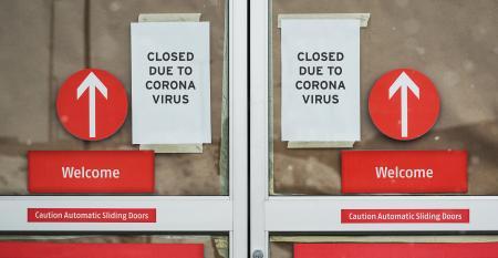 closed retail doors
