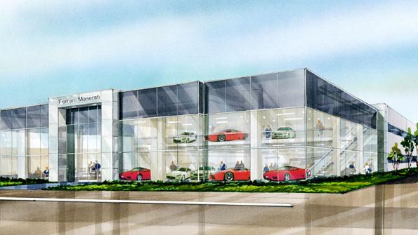 Beverly Hills Ferrari Maserati To Build 20 000sf Dealership National Real Estate Investor