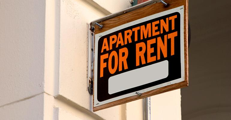 Lovely Apartment For Rent Sign