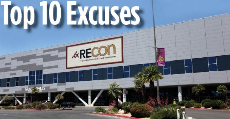 Top 10 Excuses for Being Late to a RECon Meeting