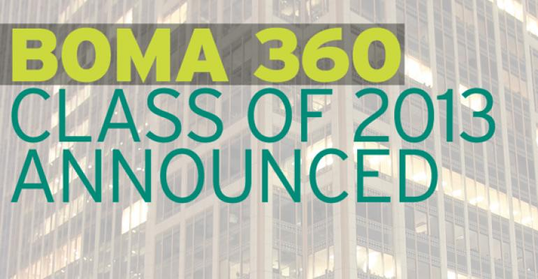 BOMA 360 Class of 2013 Announced