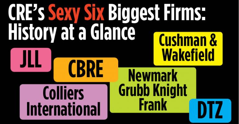 CRE's Sexy Six Biggest Firms: History at a Glance