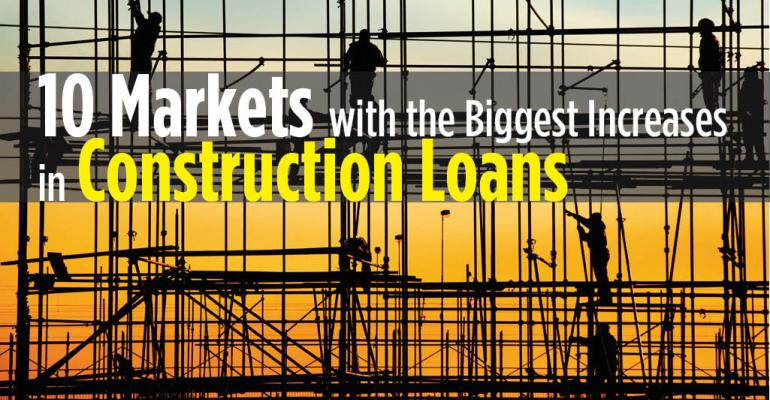 10 Markets with Biggest Increases in Construction Loans