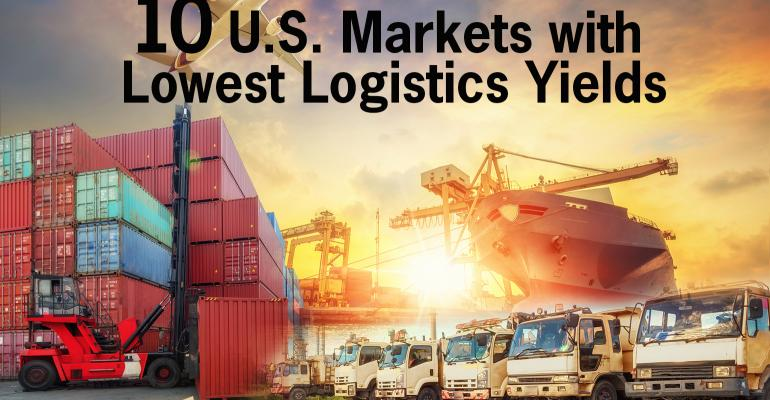 ten US markets lowest logistics yields