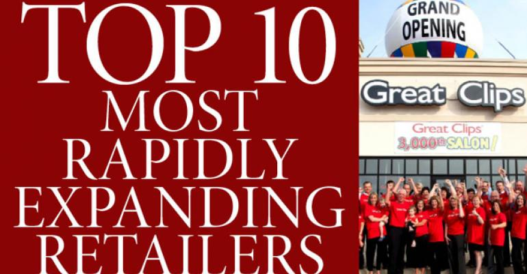 Top 10 Most Rapidly Expanding Retailers