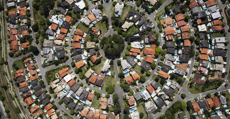 arial view of neighborhood