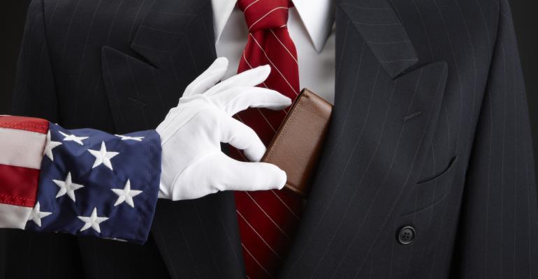 Uncle Sam picks businessman's pocket