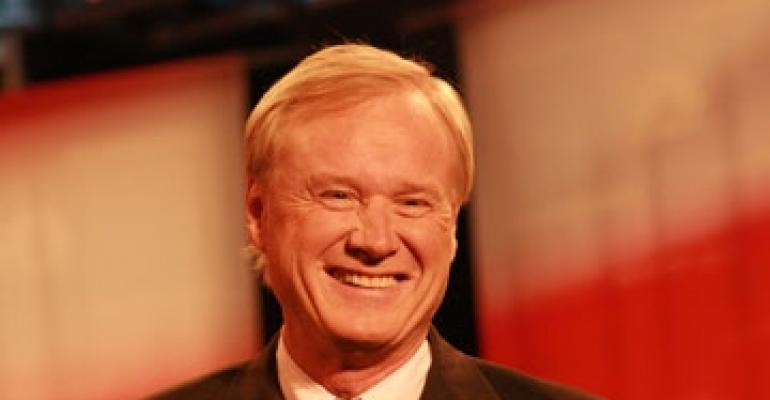 Tisch Plays Hardball with Chris Matthews at NYU Hotel Conference
