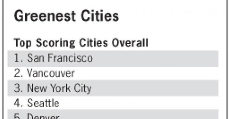 San Francisco Earns Greenest City Honors