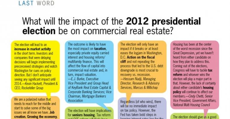 What Will the Impact of the 2012 Presidential Election be on Commercial Real Estate?