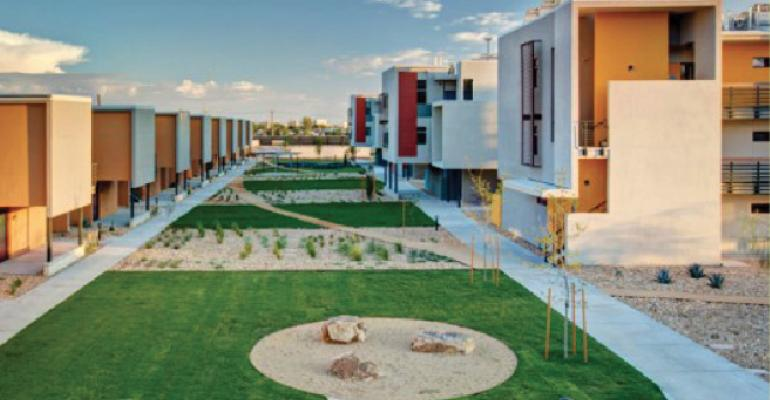 Paisano Green Community in El Paso Texas is seeking LEED Platinum certification and is a certified Enterprise Green Community