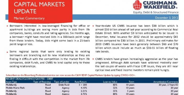 C&W EDSF Capital Markets Update - December 3, 2012