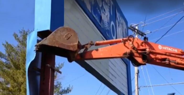 Demolition of Jordan Crossing