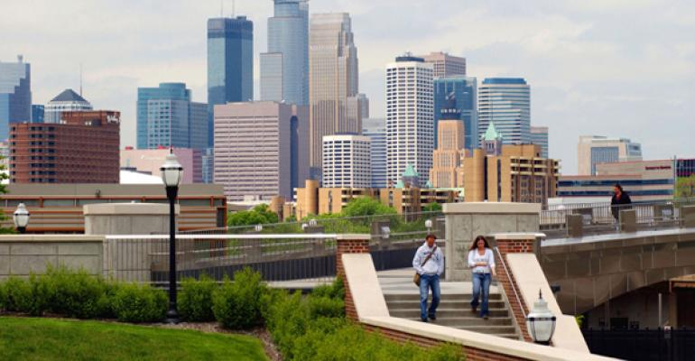 Minneapolis seen from the University of Minnesota ndash Twin Cities