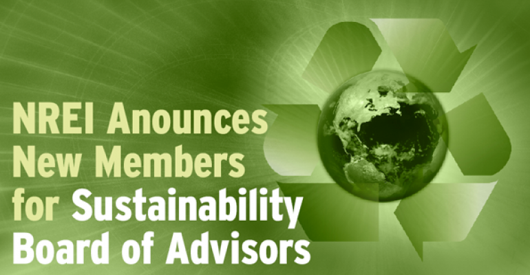 NREI Announces New Members for Sustainability Board of Advisors
