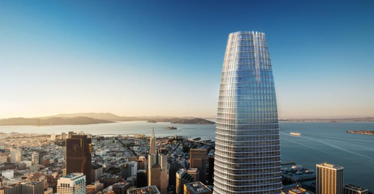 Salesforcecom signed the largest office lease in San Franciscorsquos history agreeing to 714000 sq ft at 415 Mission Street a 61story tower being developed by Boston Properties and Hines The tower is expected to be the tallest building on the West Coast
