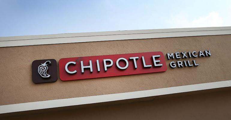 Chipotle storefront sign