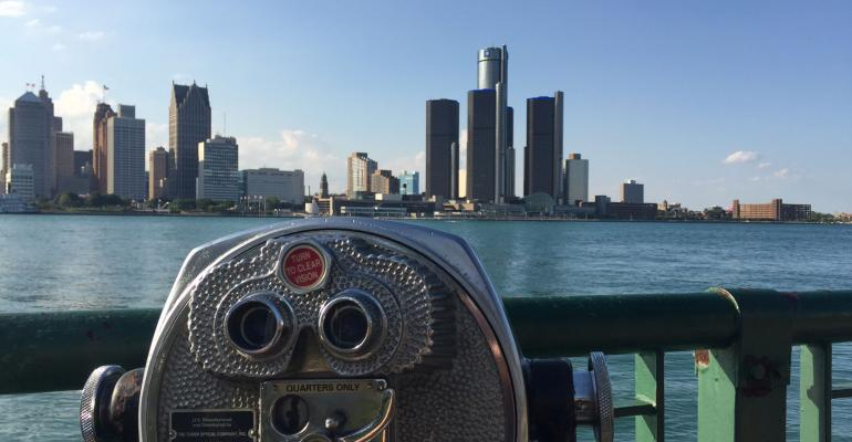 Downtown Detroit seen from Windsor